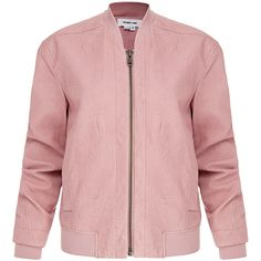Helmut Lang Pink Leather Bomber Jacket ($450) ❤ liked on Polyvore featuring outerwear, jackets, tops, bomber jacket, coats, pink, moto jacket, leather motorcycle jacket, real leather jackets and leather jackets