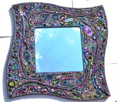 Mosaic mirror, peacock mosaic art, Real peacock feather inlays on Etsy, $944.21