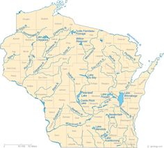 Wisconsin Lake Map, River Map and Water Resources