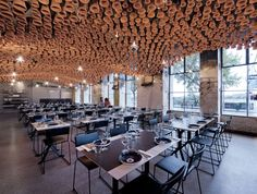 Mesmerizing Ceiling Canopy Installation Made With Thousands of Clay Pots | Junkculture