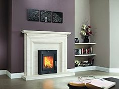 Evolution 7 Inset Stove - convert an inefficient open fireplace into a cost-effective wood burning stove. http://www.ukhomeideas.co.uk/ideas/heating-fireplaces/wood-burning-stoves/the-evolution-4-and-7-wood-burning-stoves-from-ludlow/