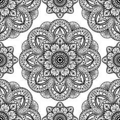 Vector, kunstvollen Muster von Mandalas. Oriental Ornament schwarze Elemente auf…