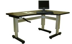 Ergonomic Computer Desk. Workplace, different working postures and ...