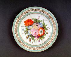 Coalport Porcelain Plate. Shrewsbury Museums Service