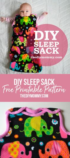 Simple and cute baby sleep sack tutorial with a free pattern and printable instr. Simple and cute baby sleep sack tutorial with a free pattern and printable instructions Sewing Baby Clothes, Baby Clothes Patterns, Sewing Patterns Free, Free Pattern, Pattern Ideas, Dress Patterns, Clothing Patterns, Easy Baby Knitting Patterns, Baby Sewing Tutorials