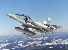 Mirage 2000-5 has nine weapon hardpoints, five on the fuselage and two on each wing.