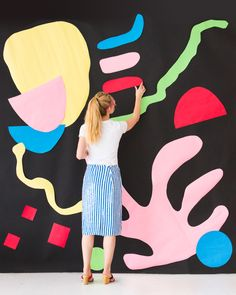 Giant Matisse-Inspired Art Party Backdrop DIY | Oh Happy Day!