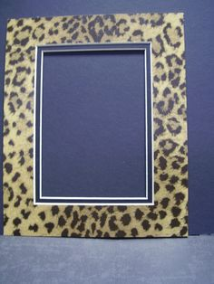 Picture Frame Mat Leopard Cheetah Jaguar Animal Print  8x10 for 5x7 Photo or Art Rectangle Cutout. $5.99, via Etsy.