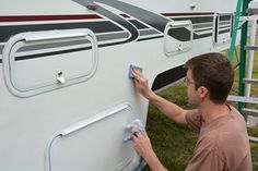 TCM removes decals, deoxidizes filon, caulks, seals, and Seal Tech tests their eleven year old truck camper. Here's how to inspect and repair camper seals.