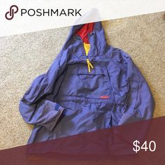 Columbia rain jacket perfect condition Purple main color with red lining! Perfect for snow or rain. Make offers I will accept all reasonable ones. Fits small and medium! Columbia Jackets & Coats
