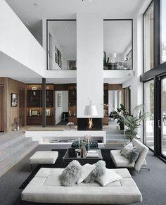 25 best living room decoration for modern house interior design 4 Dream Home Design, Modern House Design, Modern Interior Design, Interior Design Inspiration, Interior Architecture, Design Ideas, Modern Decor, Design Trends, Interior Ideas