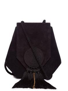 Opium 3 swirl-detail suede cross-body bag | Saint Laurent | MATCHESFASHION.COM