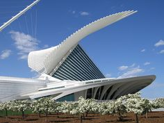 Milwaukee Art Museum Quadracci Pavilion. The first Santiago Calatrava-designed building in the United States.