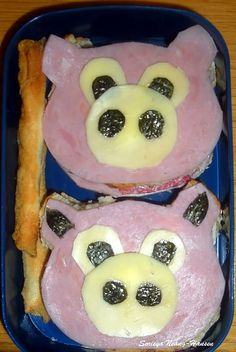 Oink Oink! Cute Pig Face sandwiches
