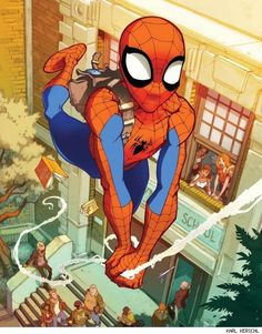 #Spiderman #Fan #Art. (Spider-Man) By: Karl Kerschl.