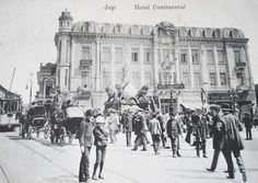 Hotel Continental, Iasi, Romania 1904 Romania, The Past, Survival, Louvre, Street View, Country, Building, Places, Postcards