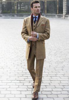 Men's Country Tweed Coat - 100% Johnstons of Elgin Wool