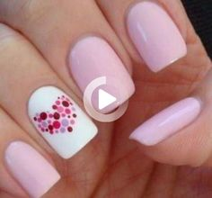 Looking at other great freehand designs is an excellent way to become inspired. An awesome part of doing nail art designs, is there are no real rules. Repeat until the plan is complete. #cutenails Trendy Nail Art, Cute Nail Art, Cute Nails, Cute Short Nails, Long Nails, Nail Art Videos, Cute Nail Designs, Simple, Repeat