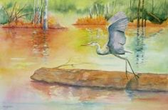"""""""Early Riser"""" Watercolor"""