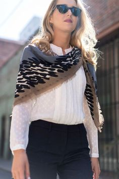 b burberry jacquard pintucked pants ivory polka dot pleated silk blouse scarf lk bennett pointed toe jojo flats