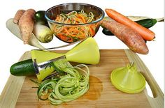 Vegetable Spiralizer with 4 Settings - Easy to Handle