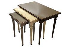 Blue Satin Footstool Furniture Satin Bedding