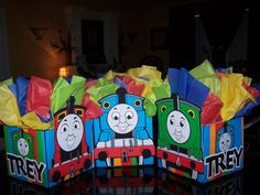 Thomas the Tank Train Birthday Party Centerpiece by playpatterns, $12.00
