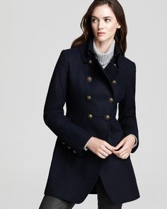DKNY Double Breasted Military Coat - Contemporary - Bloomingdale's