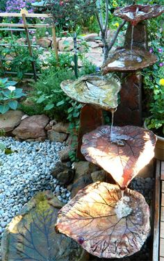 Tiered Leaves water fountain
