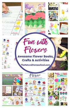 In this Flower Books and Activities post, we will be sharing with you all kinds of goodies! We will share some flower board books, crafts, fiction books, snacks, non-fiction books, free printables, and so much more!