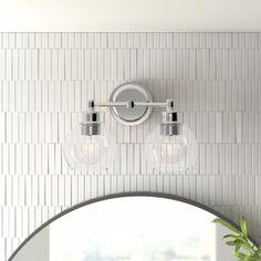 "Ivy Hill Tile Fargin 0.87"" x 3"" Honeycomb Mosaic Tile & Reviews | Wayfair Floor Patterns, Wall Patterns, Ceramic Subway Tile, Marble Mosaic, Mosaic Wall, Shower Floor, Vanity Lighting, Bathroom Lighting, Glass Globe"