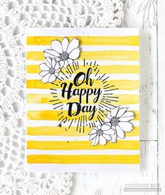 RejoicingCrafts: Oh Happy Day! My card with the Simon Says Stamp Oh Happy Day stamp set. #simonsaysstamp #handmade #card
