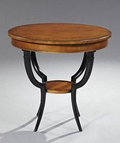 Biedermeier-Style Fruitwood Occasional Table Artfact.com