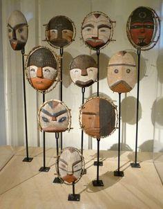 Masques-kodiak, Alaska, musée Boulogne sur Mer