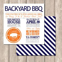 Summer Backyard BBQ Invitations - perfect for entertaining, engagement parties or couples' showers via #Etsy