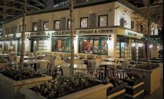 The famous Smith & Wollensky Steaks & Chops restaurant in Chicago, IL., - Featuring folding windows (bi-fold windows) by Door Innovations. Folding Patio Doors, Chicago Restaurants, Window Design, Steaks, Innovation, Windows, Mansions, House Styles, Restaurants In Chicago