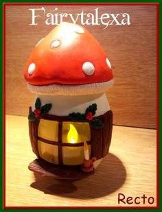 Pot de Noël décoré en porcelaine froide - porcelana fria - cold porcelain - biscuit