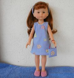 Robe d'été pour poupée Chérie - MCL Poupées, vêtements pour les poupées et les poupons Nancy Doll, Doll Dresses, Doll Hair, Armoire, Doll Clothes, Scrap, Etsy, Boutique, Summer Dresses