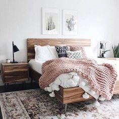 37 Best Scandinavian Bedroom Design for Simple Bedroom Cozy Bedroom, Home Decor Bedroom, Modern Bedroom, Scandinavian Bedroom, Master Bedroom, Bedroom Furniture, Master Suite, White Rustic Bedroom, White And Brown Bedroom
