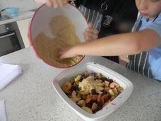 Following our Apple resource, pupils at Orford made this delicious apple and blackberry crumble.