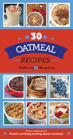 30 Decadent Oatmeal Recipes to Get You Out of Bed Healthy Recipes For Diabetics, Diabetic Recipes, Low Carb Recipes, Whole Food Recipes, Vegan Recipes, Cooking Recipes, Brunch Recipes, Breakfast Recipes, Diabetic Breakfast