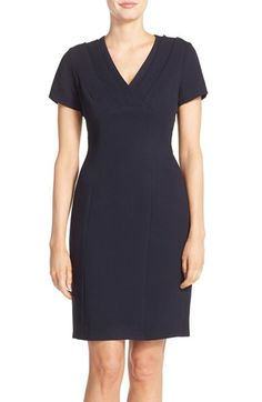 Adrianna Papell Pleat Crepe Sheath Dress available at #Nordstrom