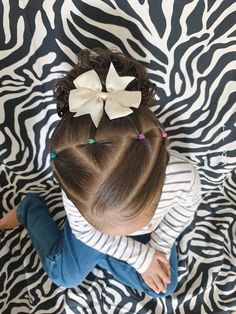 Mixed Kids Hairstyles, Easy Toddler Hairstyles, Easy Little Girl Hairstyles, Cute Hairstyles For Kids, Baby Girl Hairstyles, Toddler Hair Dos, Anna Hair, Girl Hair Dos, Hair Ideas