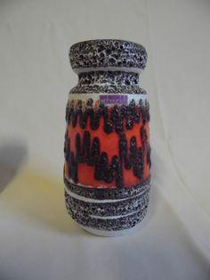 Scheurich Fat Lava Vase 242-22 60er 60`s 70er 70`s wgp west german pottery