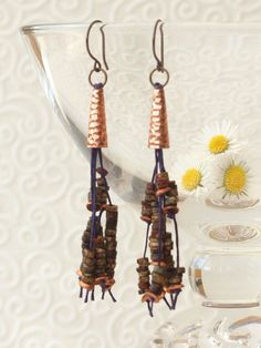 festival earrings boho festival earrings by HandmadeEarringsUk