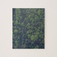 Green Trees Jigsaw Puzzle - wood gifts ideas diy cyo natural