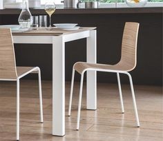 Calligaris Modern Online Dining Chair in Choice of Wood Veneer - See more at…