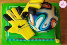 goalkeeper birthday cake - Google Search Soccer Birthday Cakes, Birthday Cake Girls, Beautiful Cakes, Amazing Cakes, Soccer Ball Cake, Sports Themed Cakes, Sport Cakes, Unique Cakes, Cakes For Boys