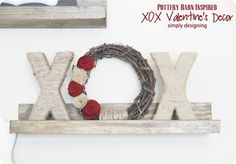 DIY Home Decor | Valentines | This textural Pottery Barn inspired wreath shows that Valentine's Day decor can be subtle and neutral!