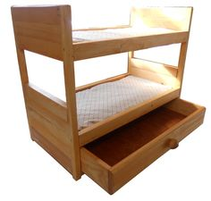 American girl doll bunk bed with storage drawer, $49.95